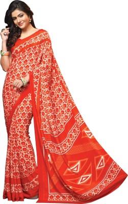 V-Style4u Printed Daily Wear Pure Crepe Sari