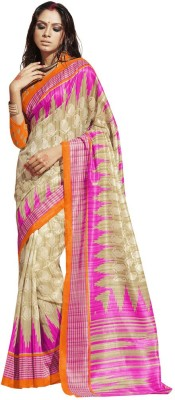 The Ethnic Chic Printed Fashion Banarasi Silk Sari