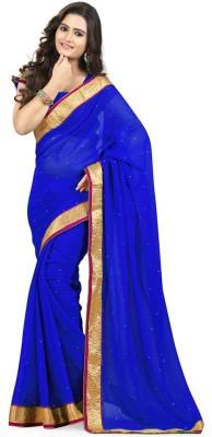 KisnaCreation Solid Bollywood Georgette Sari