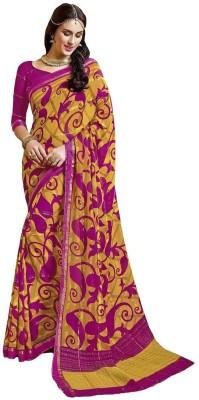 Shikha Creations Printed Banarasi Pure Chiffon Sari