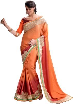 She Fashion Embriodered Fashion Satin, Georgette Sari