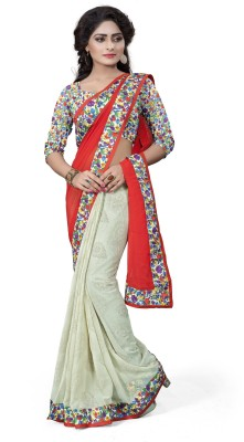 Anu Creation Solid Bollywood Georgette Sari