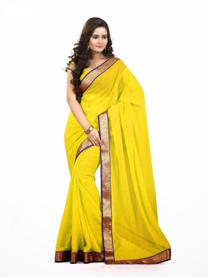 F3 Fashion Self Design Bollywood Chiffon Sari