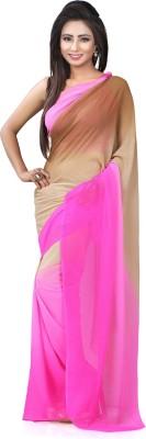 Lovelylook Solid Fashion Chiffon Sari