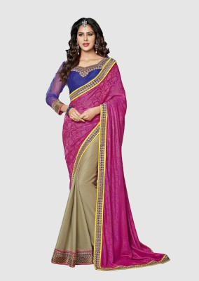 Dhnet Embriodered Fashion Handloom Jacquard Sari