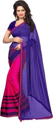PAHAL FASHION Embellished, Self Design Bollywood Georgette, Poly Silk Sari