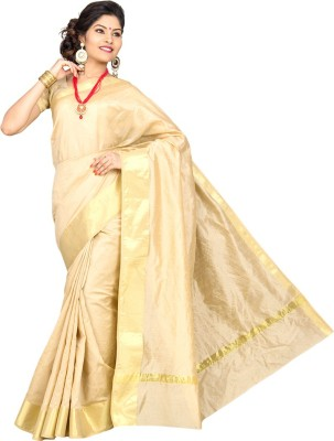 Pavechas Solid Banarasi Silk Cotton Blend Sari