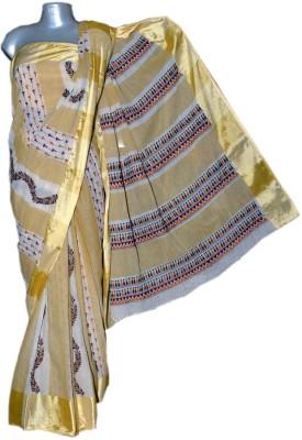 Kreasions Geometric Print Kantha Handloom Cotton Sari
