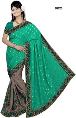 SHRADDHA PRINTS Embriodered Bollywood Viscose Sari