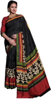 Fashionate Printed Fashion Tussar Silk Sari