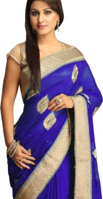 KHUSHALI COLLECTION Embriodered Bollywood Silk Sari