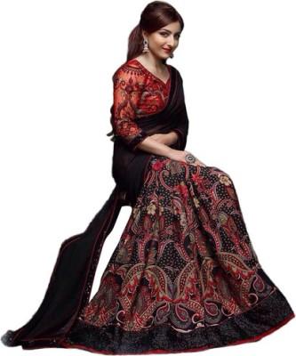 Radhe Studio Embriodered Fashion Georgette Sari