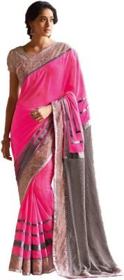 Siddhi Vinayak Printed Bollywood Synthetic Georgette Sari