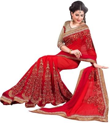 Sundari Fashion Embriodered Fashion Georgette Sari