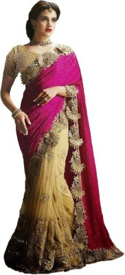 Krishna Embriodered Fashion Net Sari