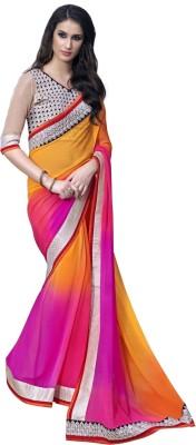 Aagamanfashion Self Design Fashion Georgette Sari