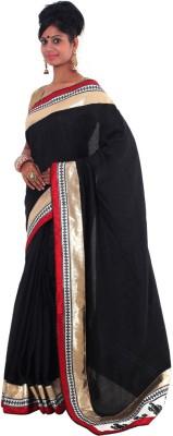 Vikrant Collections Plain Fashion Dupion Silk Sari