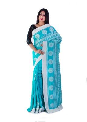 La Belleza Boutique Floral Print Muslin Silk Sari