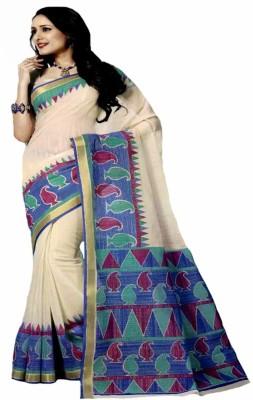 Rajguru Bagalpuri Printed Gadwal Handloom Cotton Sari
