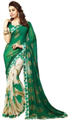 PerfectBlue Printed Fashion Chiffon Sari