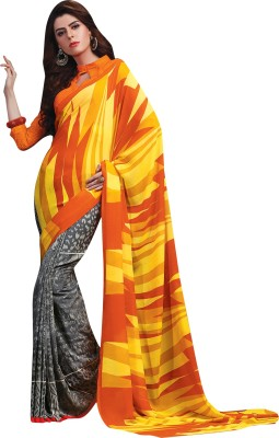 Vachi Graphic Print Daily Wear Georgette Sari