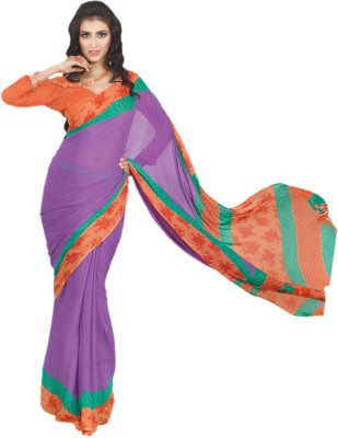 Hypnotex Printed Fashion Satin Sari
