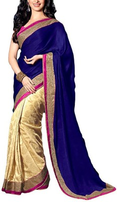 Dhnet Embriodered Fashion Brasso Sari