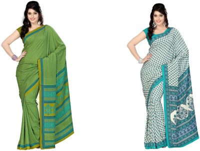 Fashion Tadka Printed Fashion Crepe Sari