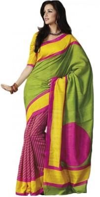 Ethnic For You Printed Bhagalpuri Cotton, Art Silk Sari