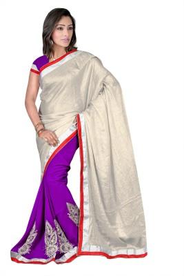 Anerra Plain Fashion Handloom Satin Sari