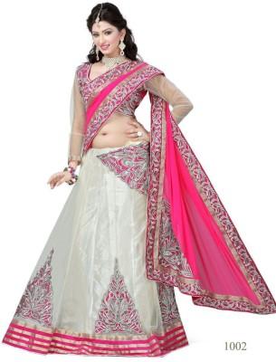 Anerra Embriodered Fashion Net, Chiffon, Satin Sari