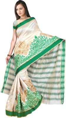 Laxminath Embriodered Assam Silk Silk Sari
