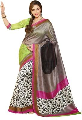 Abida Geometric Print Daily Wear Art Silk Sari