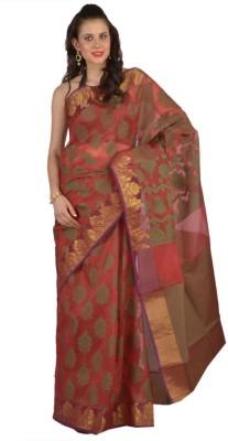 9rasa Printed Banarasi Polycotton Sari