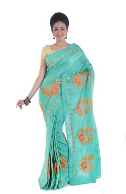 Tanis Embriodered Jamdani Handloom Silk Sari
