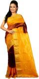 Womilo Woven Kanjivaram Silk Saree (Brow...
