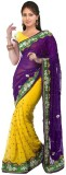 Divine Embroidered Bollywood Chiffon Sar...