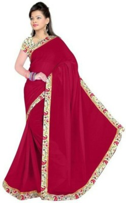 simple sobar Plain Daily Wear Synthetic Sari