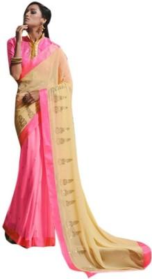 The Ethnic Chic Embriodered Fashion Georgette Sari