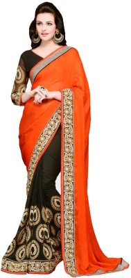 The Color Tex Embriodered Bollywood Georgette Sari