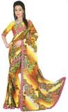 Chaand Floral Print Fashion Georgette Sa...