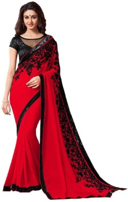 Nilesh Fab Embriodered Bollywood Pure Georgette Sari