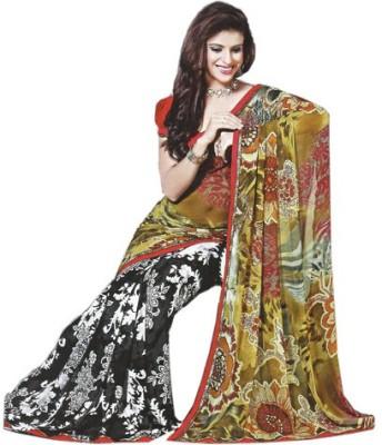 wingsenterprises Printed Daily Wear Synthetic Sari