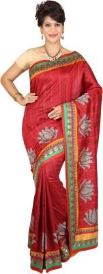 Atika Printed Fashion Raw Silk Sari