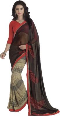 Shilpkar Geometric Print Bollywood Chiffon Sari