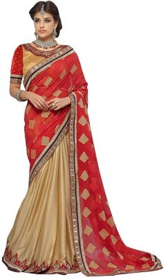 Shree Sai NX Embellished Bollywood Jacquard, Georgette Sari
