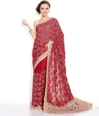 Zain Textiles Woven Banarasi Chiffon Sari