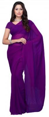 First Lady Solid Fashion Georgette Sari