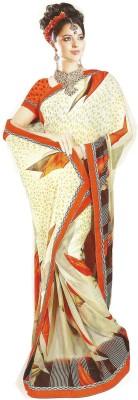 Swaman Floral Print Fashion Chiffon Sari