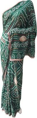 RAJASTHANI BANDEJ Printed Daily Wear Synthetic Sari